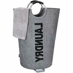 115L Laundry Baskets X-Large Linen Imitation With Coin Bag,