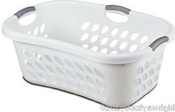 Sterilite 12108006 Ultra HipHold Laundry Basket, White, 1.25
