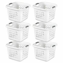 Sterilite 12178006 Ultra Square Laundry Basket with Titanium