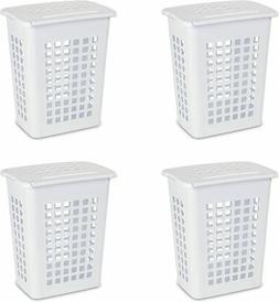Sterilite 12238004 Rectangular LiftTop Laundry Hamper White