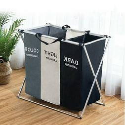 2/3 Sections Basket Hamper for Laundry Foldable Wash Clothes