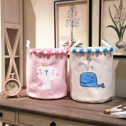 35*40cm Laundry Basket For Dirty Clothes Ballet Girl Bow Pri