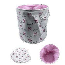 35*40cm Pink Laundry Basket for Dirty Clothes Cotton Ballet