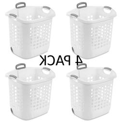 Rolling Laundry Hamper Basket Wheeled Clothes Storage Bin H