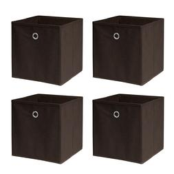 4x Collapsible Storage Boxes Folding Laundry Baskets Bin Org