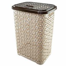 60 Liter Hollow Design Clothes Hamper Laundry Basket,Made In