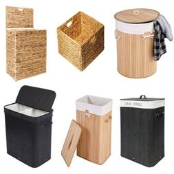 Bamboo Hamper Laundry Basket Sorter Washing Cloth Bin Storag