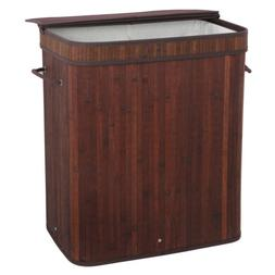 Laundry Hamper with lid 2 Section Dirty Clothes Basket Doubl