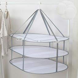 clothes drying rack hanging clothing basket layer