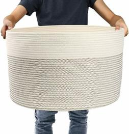 Coiled Rope Storage Basket Bin Laundry Home Organizer for Be