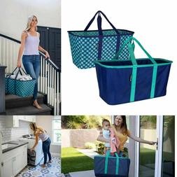 CleverMade Collapsible Laundry Basket Tote w Handles Large 2