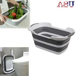 Collapsible Plastic Laundry Foldable Popup Storage Washing F