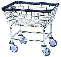 COMMERCIAL WIRE LAUNDRY BASKET CART NEW!