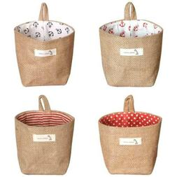 Cotton Linen Bag Laundry Storage Basket Baby Toy Shoe Bedroo