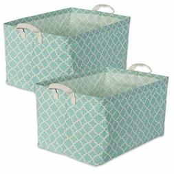 DII Cotton/Polyester Cube Laundry Basket,