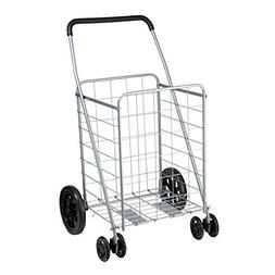 Honey-Can-Do CRT-01640 Rolling Grocery Cart, Dual Front Whee
