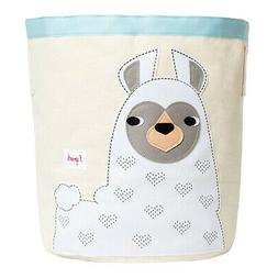 3 Sprouts Cute Canvas Storage Bin Laundry/Toy Basket for Bab