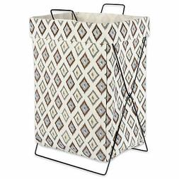 Design Imports DII Neutral Diamond Ikat Metal Frame Laundry