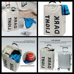 Dirty Clothes Basket Double Laundry Hamper with Handle Kids
