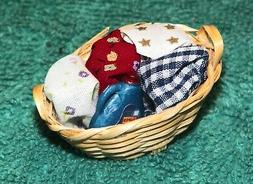 Dollhouse Miniatures, Laundry Basket with Clothes and Deterg