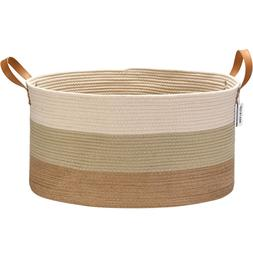 extra large size cotton rope woven storage
