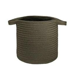 "Farm Braided Laundry Basket  - Charcoal 16""x16""x20"""