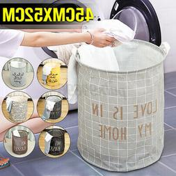 Foldable Dirty Clothes Storage Bag Laundry Basket Hamper Was