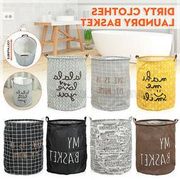 Foldable Laundry Basket Dirty Clothes Storage Bag Hamper Was