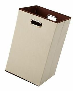 Foldable Laundry Hamper Portable Bin Canvas Compact Durable