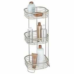 iDesign Forma Metal Wire Corner Standing Shower Caddy Bath S