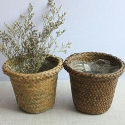 hand woven nature seagrass basket plant pot laundry storage