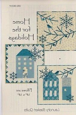 Home for the Holidays - applique & pieced pillows PATTERN -