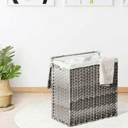 Home Laundry Hamper Hand-Woven Synthetic Rattan Storage Laun
