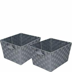 Honey-Can-Do STO-05088 Woven Baskets, Gray, 2-Pack