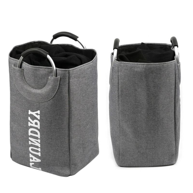 1PC Laundry Baskets Multiple Use Cloth Material Foldable Con