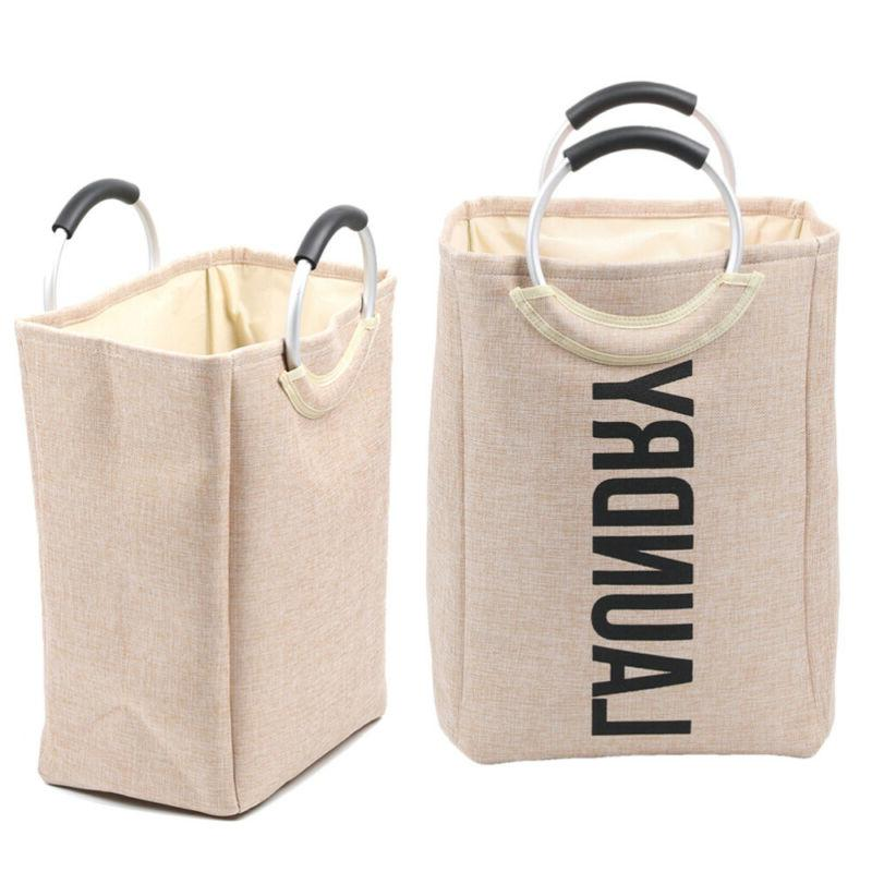 1PC Laundry Baskets Foldable Multiple Use Cloth Material Dur