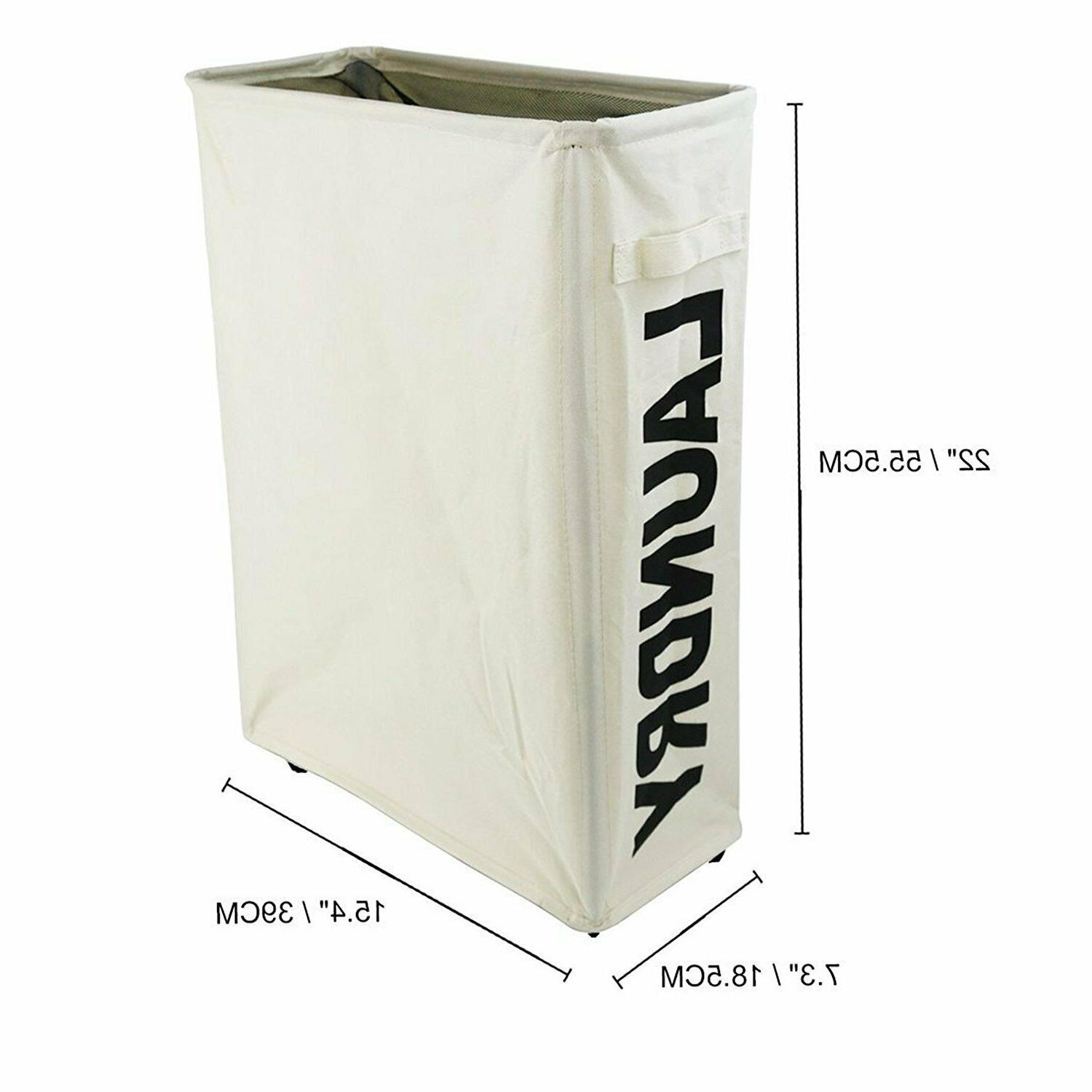 "Caroeas 22"" Rolling Laundry Basket Thin Laundry"