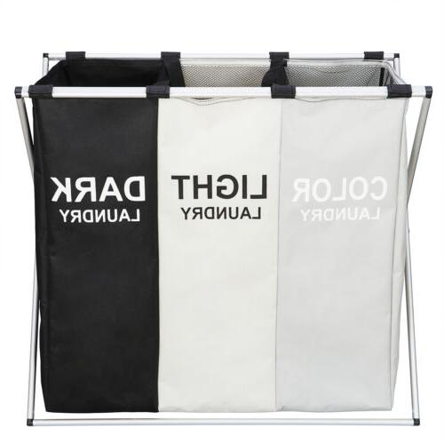 Foldable 3 Section Hamper Large Cart