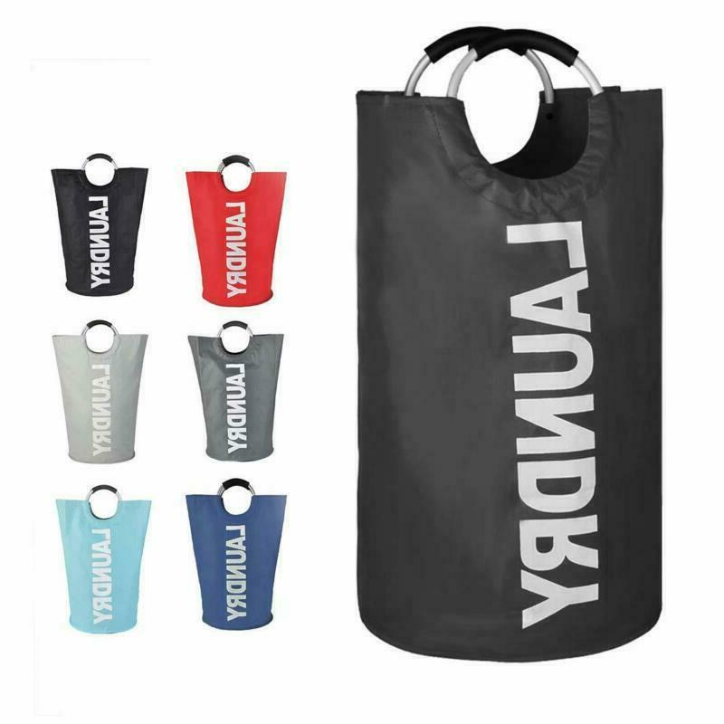 82l large laundry basket collapsible fabric laundry
