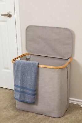 BIRDROCK HOME Canvas Laundry with |