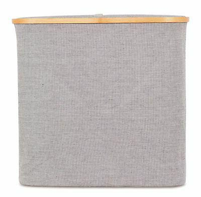Canvas Laundry Basket with |