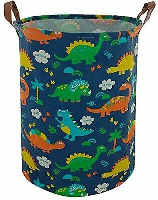 canvas fabric collapsible kids baby laundry basket