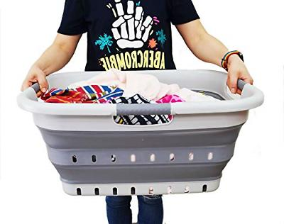 Collapsible 3 Laundry Basket Foldable Up
