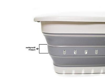 Collapsible 3 Laundry Basket Pop Up Container