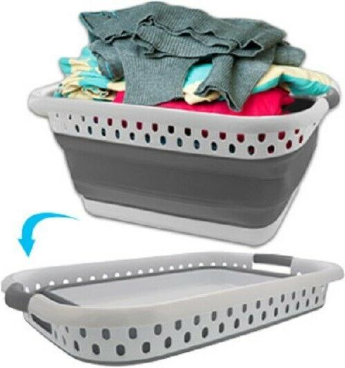 Collapsible Laundry Basket - Portable Space Saving And Stron