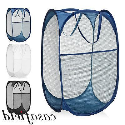 collapsible mesh pop up laundry clothes hamper