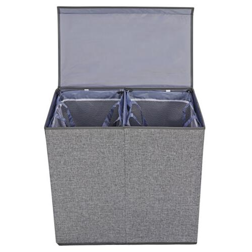 Grey Double Hamper with Lid
