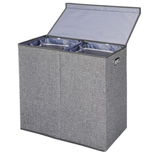 Grey Hamper Clothes Lid and Removable