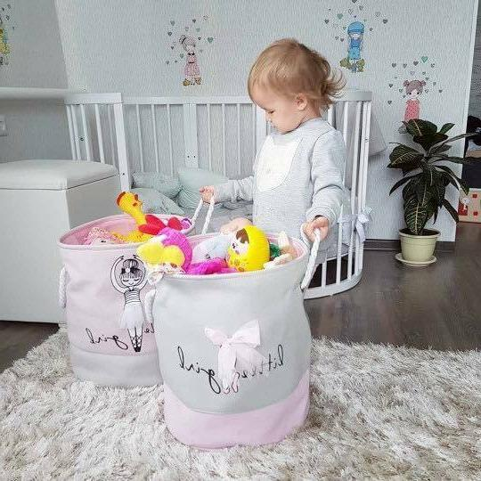 Kids Foldable Basket for Clothes, Toys
