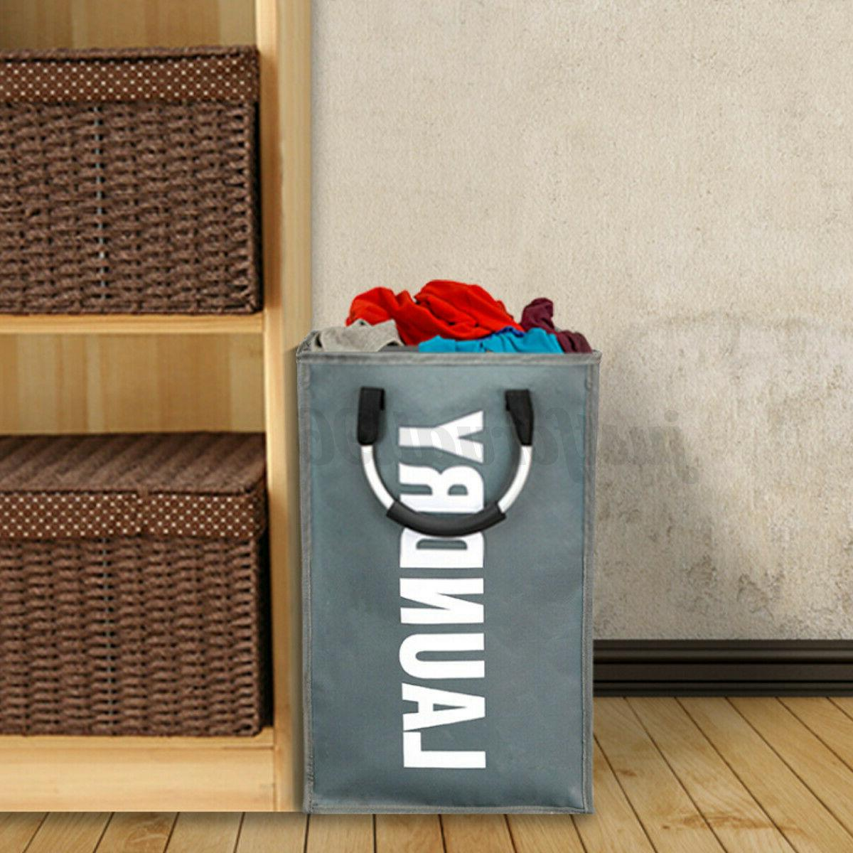 Laundry Waterproof Hamper Clothes Bag Collapsible Foldable U
